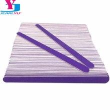 Двойной головкой деревянные Пилочки для ногтей 200 шт./партия для фотосъемки Фиолетовый Деревянный наждачная бумага полировальная машина Lixas De Unha, переводятся на ногти при помощи Vijlen файлы ногтей набор инструментов