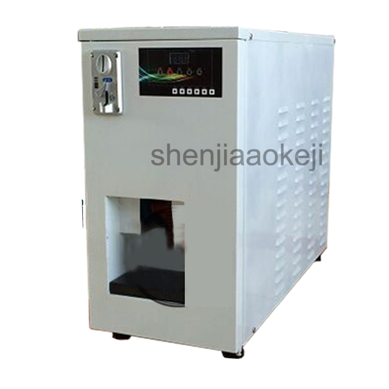 220V Commercial automatic coin stainless steel soft ice cream vending machine Smart coin system air cooling ice cream maker 1pc