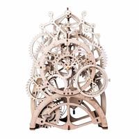 Robotime DIY Clock Mechanical Gear Model Wooden Desk Decoration Mechanism Office Home Modern Design Wall Table Watch LK501