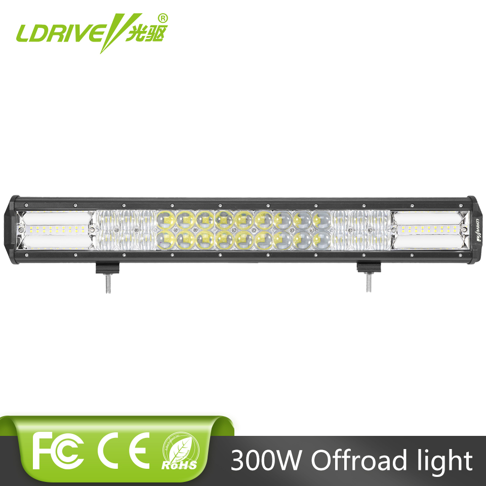 LDRIVE 22 5D LED Work Light Bar 330W Combo LED Car Auto Headlight For Jeep Hummer ATV UTB Pickup Boat Offroad SUV Lamp Bar