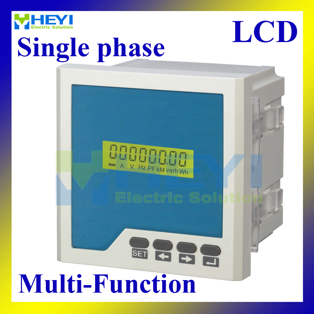 LCD Single phase Multifunctional Monitoring Meters multifunction meter digital Combined Meters with RS485