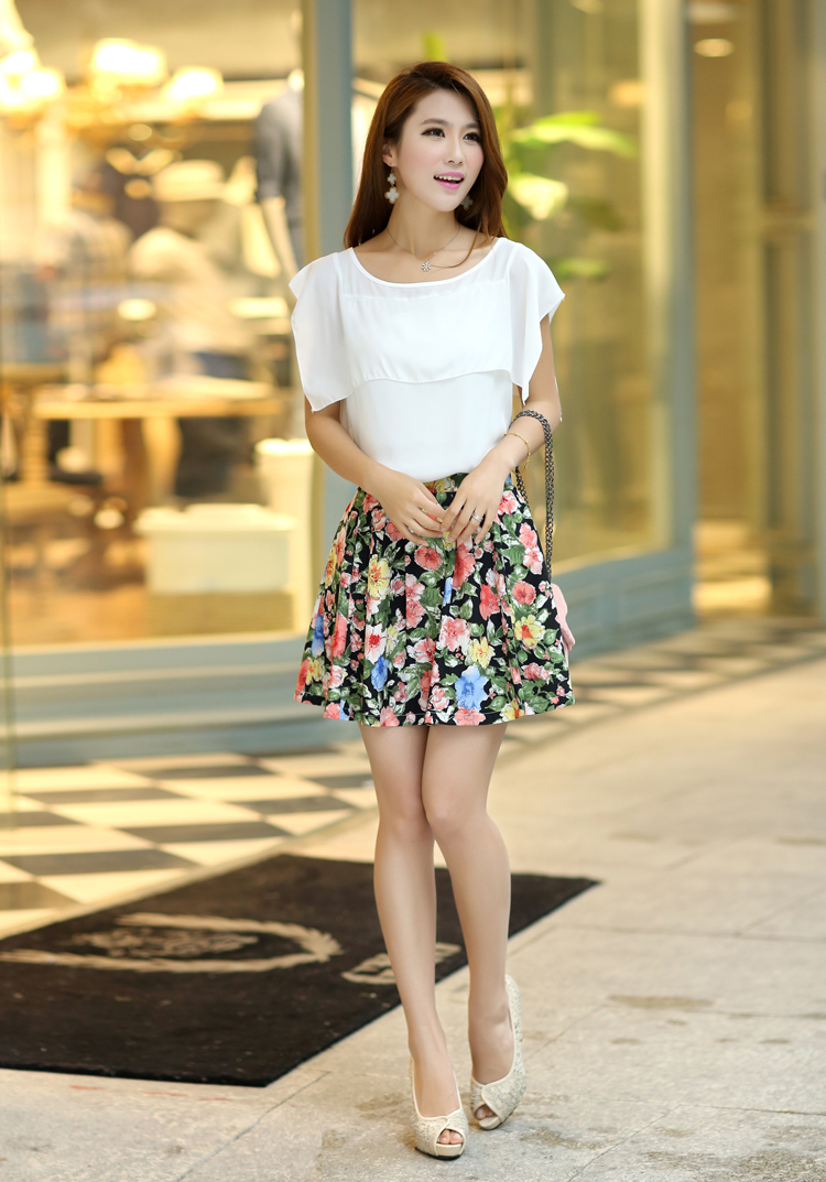 Aliexpress.com : Buy 2015 Hot Summer Women Skirt Kilt Floral Print ...