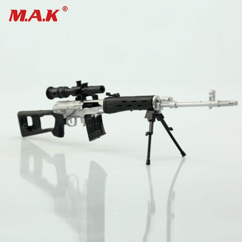 """1/6 Escala De Plata Ruso Svd Rifle Modelo De Arma Para 12 """"macho Fit 12"""" Soldado Figura De Acción Muñecas Accesorios Colecciones"""