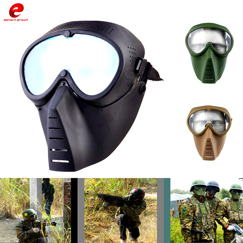Anti-Fog Ventilated Paintball Masks Full Face Electric Fan Masks Gas With Goggle Outdoors CS War Game Hunting Airsoft Mask CY292