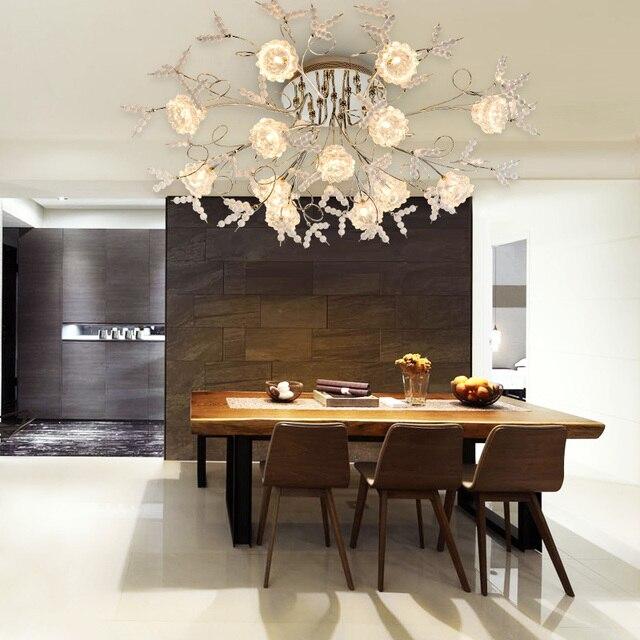 Z Luxus Romantische Kristall Deckenleuchte Europäischen FÜHRTE  Fernbedienung G4 Beleuchtung Schlafzimmer Restaurant Wohnzimmer Kronleuchter