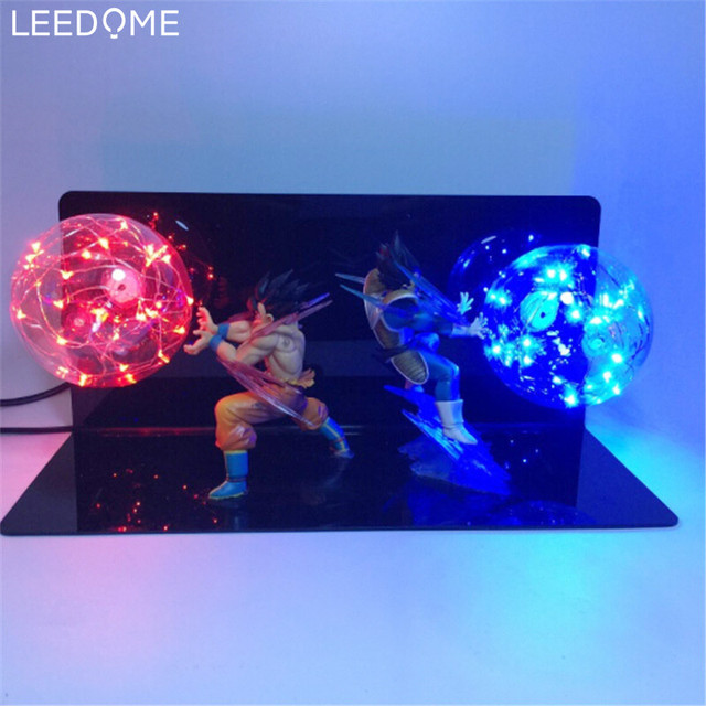 Leedome Dragon Ball Z Vegeta Fils Goku Super Saiyan Led Lampe De