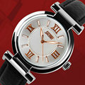Ladies relojes de moda últimas con luz nocturna resistente al agua de cuero señora de las mujeres relogio feminino montre femme Cuarzo reloj de pulsera