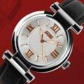 Senhoras moda relógios mais recente com nightlight resistente à água couro mulheres lady relogio feminino montre femme relógio de pulso de Quartzo