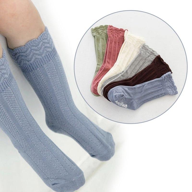 0-4Y Girls Warmers Knee High Socks Infant Cotton Long Socks Striped Leg