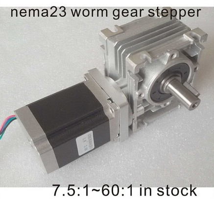 NEMA23 moteur pas à pas à vis sans fin 7.5: 1-80: 1 250oz-in longueur du moteur 76mm CE ROHS Nema 23 réducteur à vis sans fin moteur pas à pas