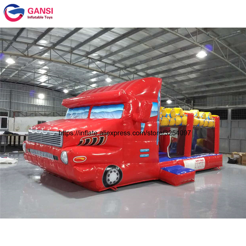 7m long inflatable car model bouncy jumping house customized printed car inflatable model for advertising decoration for rental