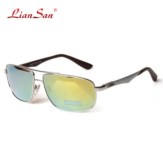 2017 liansan óculos polarizados do vintage das mulheres óculos de sol retro óculos de armação homens óculos de sol da moda de luxo lsp805t