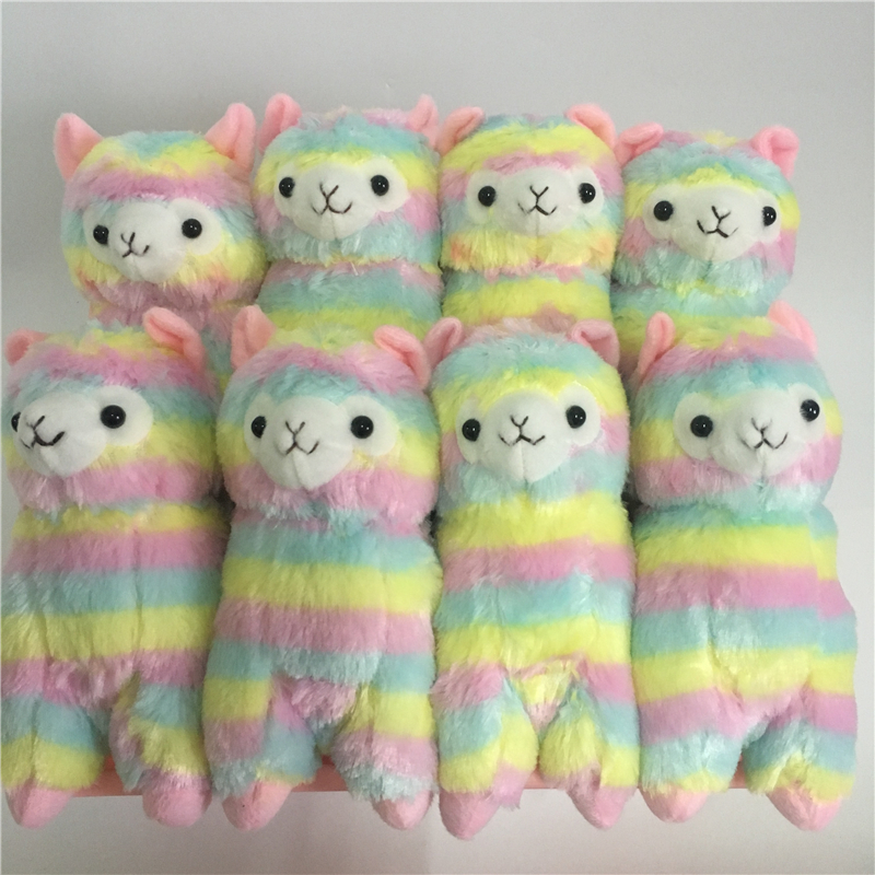 10pc Lot 17cm 35cm Rainbow Alpaca Japan Alpacasso Arpakasso Plush Stuffed Doll Kids Alpaca Christmas Gifts
