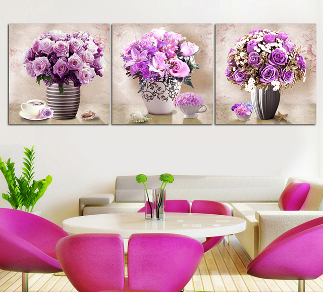 Us 15 5 38 Off Most Advanced High Definition Printing Simulation Oil Painting Beautiful Purple Lavender The Sitting Room Decorate Art 1168041 In