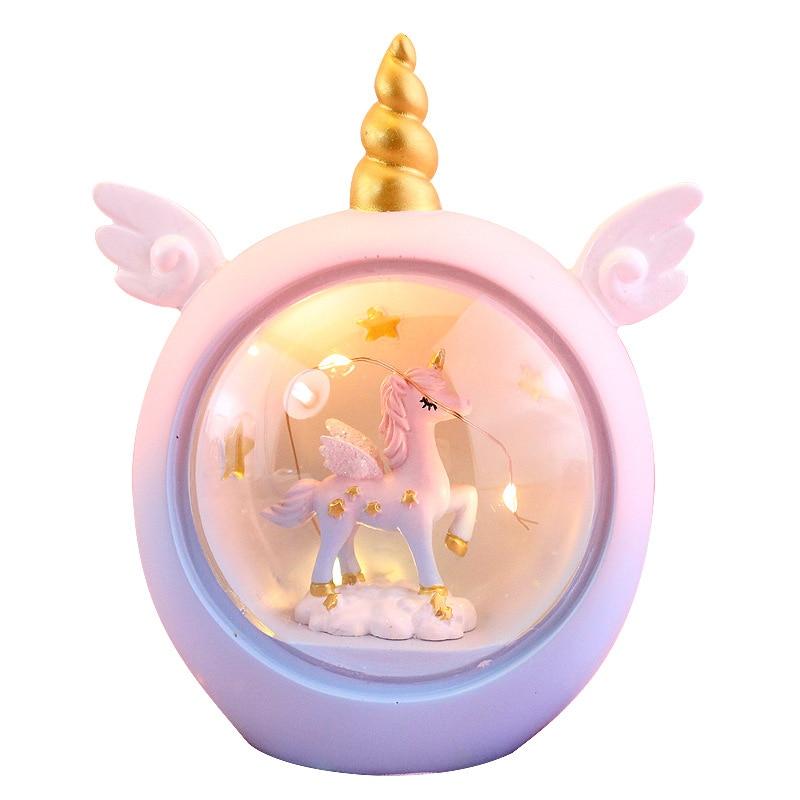 Cartoon Unicorn LED Night Light For Kids Baby Children Nursery Lamps Animal Toys Bedroom Decor  Birthday Gift