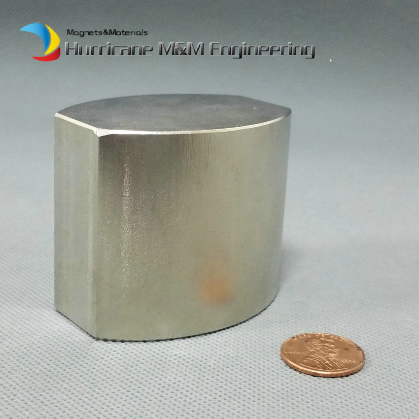4pcs NdFeB Irregular Shaped Block Magnet 50x58x44 mm N52 Neodymium Rare Earth Permanent Magnet NiCuNi Plated HMME Produced sr 02 olive shaped neodymium magnet dark grey 4 pcs