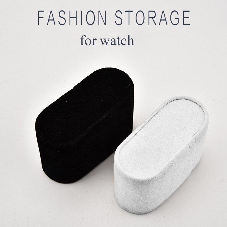 Wholesale Black White Suede Watch Cushions Watch Pillow For Case Storage Box Wrist Watch Bracelet Display Stand Holder Organizer
