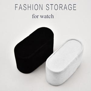 Wholesale Black White Suede Watch Cushions Watch Pillow for Case Storage Box Wrist Watch Bracelet Display Stand Holder Organizer(China)