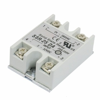 5 PCS Output 24V-380V 25A SSR-25 DA Solid State Relay For PID Temperature Controller фото