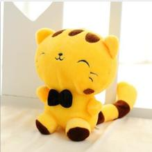 WYZHY Mixed color delivery big face cat figurine creative plush toy wedding gift 15cm