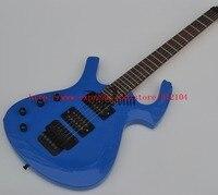 Большой Джон Новый Cusomized левша электрогитара специальная форма синий с палисандр гриф BJ 131