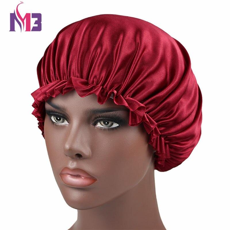 Women Silk Bonnet Beanie Hat Soft Stretchy Silky Bonnet Skullies Hair Cover Sleeping Cap in Women 39 s Skullies amp Beanies from Apparel Accessories