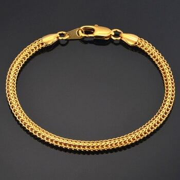 c201161ca76e De los hombres de las mujeres pulsera al por mayor de 2018 pulsera plata oro  Color 4