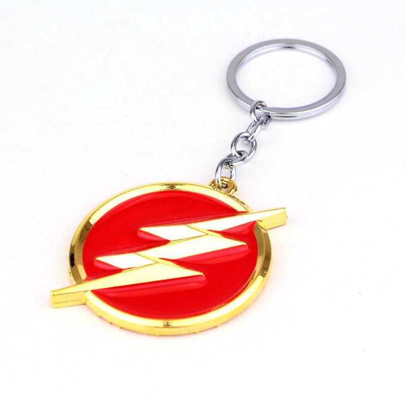 Vengadores 4 Infinity War The Flash gordén-lightning llavero de oro rojo llavero de regalo llavero titular para recuerdos para coche