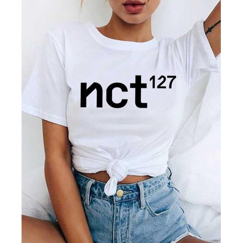 Nct 127 תועה ילדים ateez נשים אייקון בגדי t חולצה blackpink loona נקבה טי חולצת טי חולצות גרפי חולצה קוריאני mamamoo למעלה