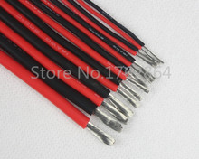6 AWG 1 meter/lot Red or Black,6# AWG,200 degrees CelsiuHigh temperature resistant silicone wire,DIY Battery Electronic Wire