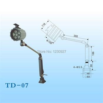 Yüksek kaliteli 12 W 110 V/220 V su geçirmez led uzun kol Kat çalışma lambası/makine çalışma ışıkları/ aydınlatma/ekipman lambası