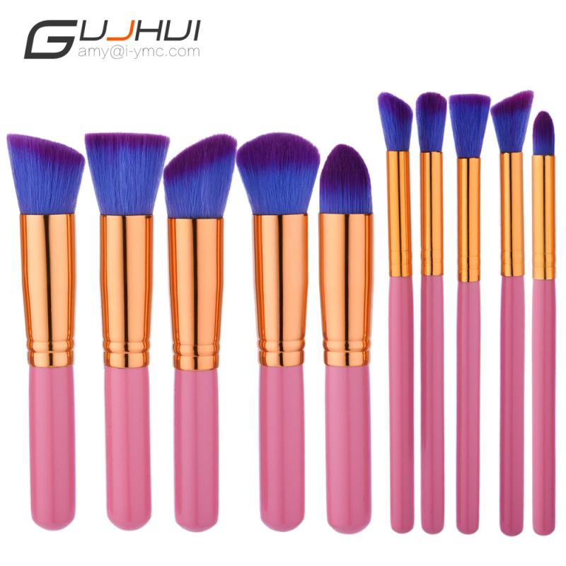 2017 New  10PCS  Make Up Foundation Eyebrow Eyeliner Blush Cosmetic Concealer Brushesl beauty drop shipping sep25 2017 new 24pcs mini make up foundation eyebrow eyeliner blush cosmetic concealer brushes beauty drop shipping sep25