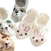 Cartoon Panda Rabbit Cat Cotton Sock Slippers Animal Fashion Print Socks For Women Free Shipping цены