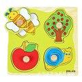 Historieta del bebé animal puzzle tablero de madera rompecabezas 2-5 años de edad del niño juguetes de madera para niños rompecabezas juguetes de aprendizaje educativo W102