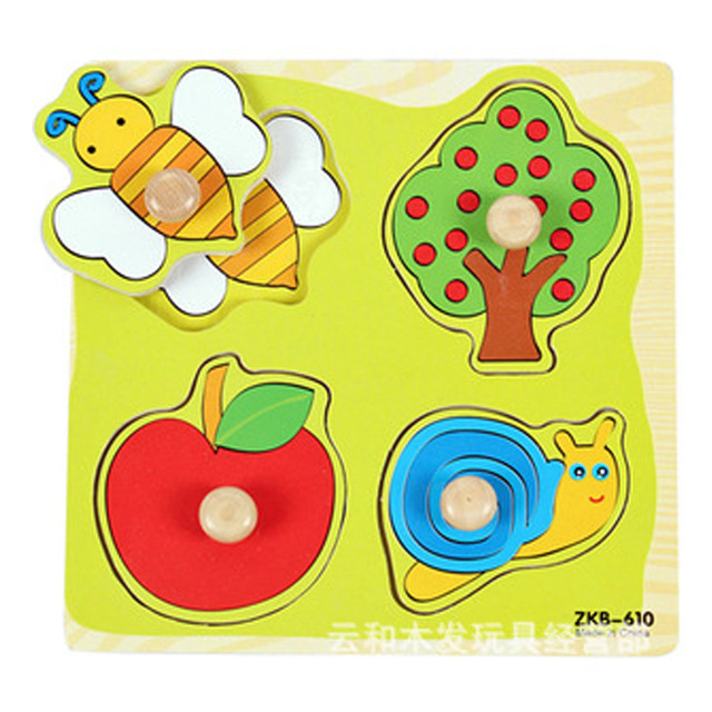 Cartoon Animal Baby Jigsaw Board Wood Puzzles 2 5 Years Old Child Wooden Kids Toys