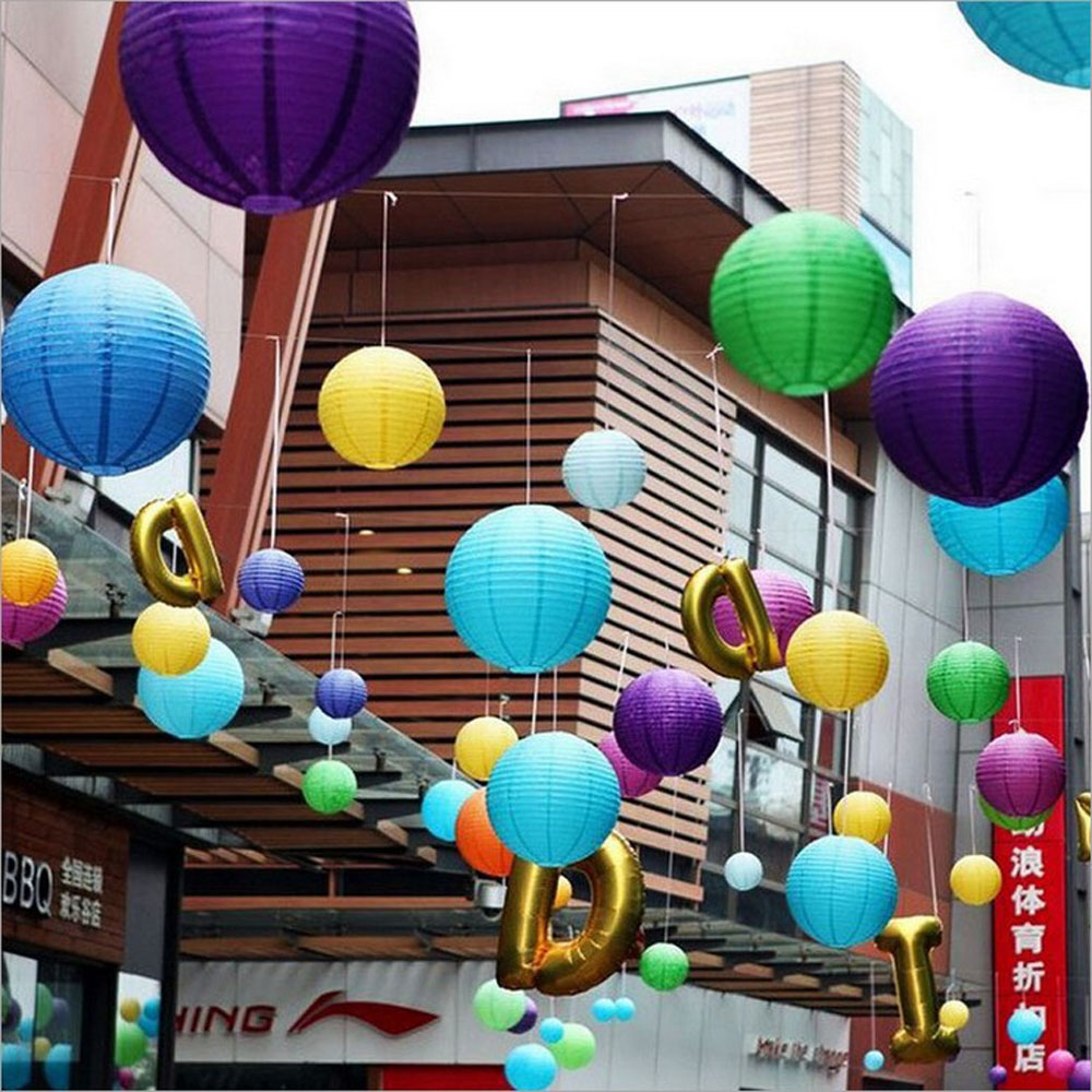 Compare prices on round paper flowers online shoppingbuy low new arrival 10pcs 8inch 20cm chinese round paper lantern hanging lampion paper ball wedding decor glim dhlflorist Image collections