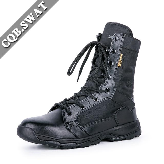 CQB. SWAT Mannen Militaire Laarzen Leger Laarzen Tactische Zomer Laarzen Ademend Wearable Laarzen maat 39 45 in CQB. SWAT Mannen Militaire Laarzen