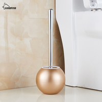 Toilet Brush Holder Bathroom Accessories WC Brush with A Long Handle for Home 304 Stainless Steel Simple Toilet Brush Holder