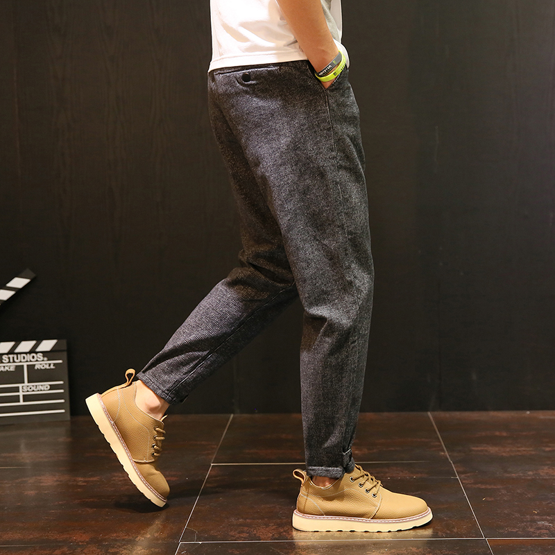 Pant for Men Autumn Winter Fashion Casual Thick Harem Pants High Quality Male Loose Cotton Pant