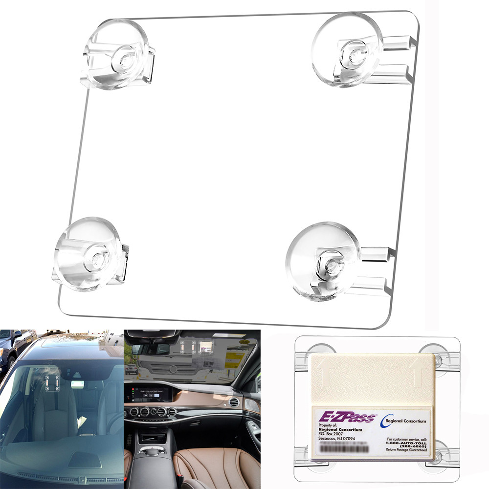 US $1 66 10% OFF|Car Styling MINI EZ Pass Clip Electronic Toll Tag Holder  for the New Small E ZPass EZ Pass Holder for dropshipping-in Universal Car