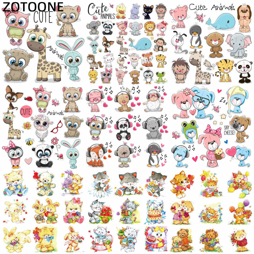 ZOTOONE Stranger Things Cartoon Cute Animal Iron on Patches for Children T-shirt Diy Patch Stickers Heat Transfers for Clothes G