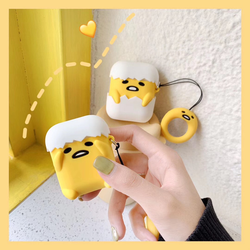 Image 4 - Lovely egg 3D Cartoon for airpods 2 case for Apple Wireless Bluetooth Headphone Protection Cover Silicone soft protective shell-in Earphone Accessories from Consumer Electronics