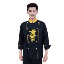 Autumn and Winter Cooking Suit Long-sleeved Chef Uniforms Men and Women Western Restaurant Canteen Hotel Kitchen Tooling