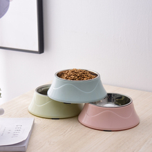 1PC 4 Style Cute Stainless Steel Dog Feeder Drinking Bowls Non-slip Pet Food Bowl Cat Supplies