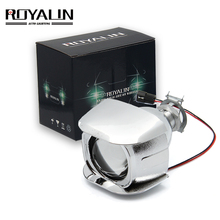 ROYALIN 1 PCS Alogena Lente H1 2.0 pollici Bi Xenon Proiettore a Testa Lente Luce LHD Mini Obiettivo di Vetro per H1 h4 H7 Moto Lampade FAI DA TE