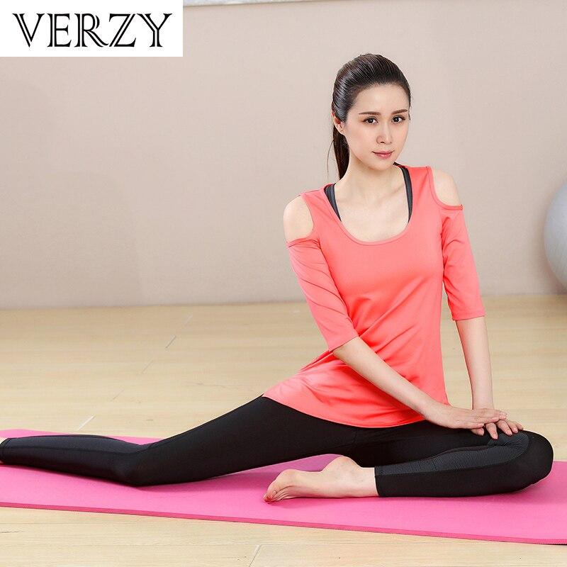 Novo Conjunto de Yoga Mulheres Roupas de Ginástica Preto Sem Alças de Manga Comprida T Shirt + Bra + Calça + Casacos 4 pcs de Fitness Respirável Correr Desporto Suit - 3