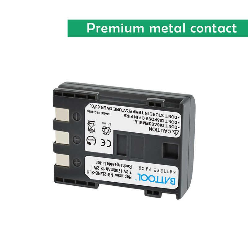 BATTOOL 3 pz 2.0Ah Batterie + Caricabatterie LCD EN-EL3e EN EL3e EL3a ENEL3e per Nikon D300S D300 D100 D200 D700 d70S D80 D90 D50 L10
