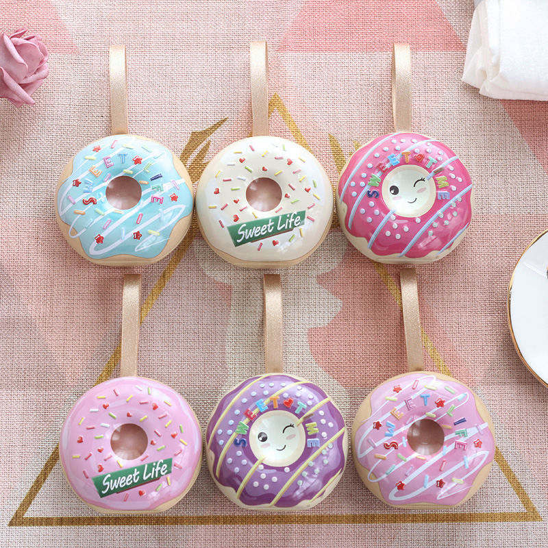 Donut Wedding Candy Box European Creative Wedding Tinplate Personality Korean Baby Full Moon Tin Box Candy Box5 Packs