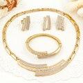 2017 Dubai Gold Plated Jewelry Sets Saudi Arabia India Turkey Nigerian Wedding African Beads Jewelry Set Bridal Accessories