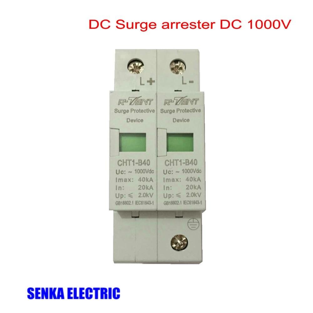 SPD DC 1000V 2P 20~40KA Surge Arrester Household Surge Protector велосипед rock machine surge 20 2013